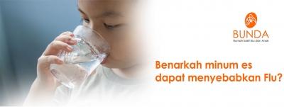 Benarkah minum es dapat menyebabkan Flu?